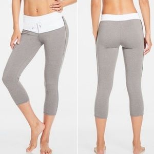 Gray and white cropped Fabletics leggings